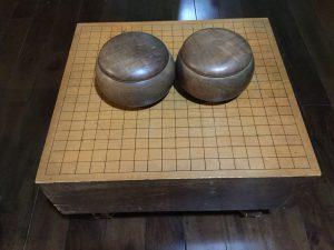 木谷道場で使用されていた碁盤と碁石